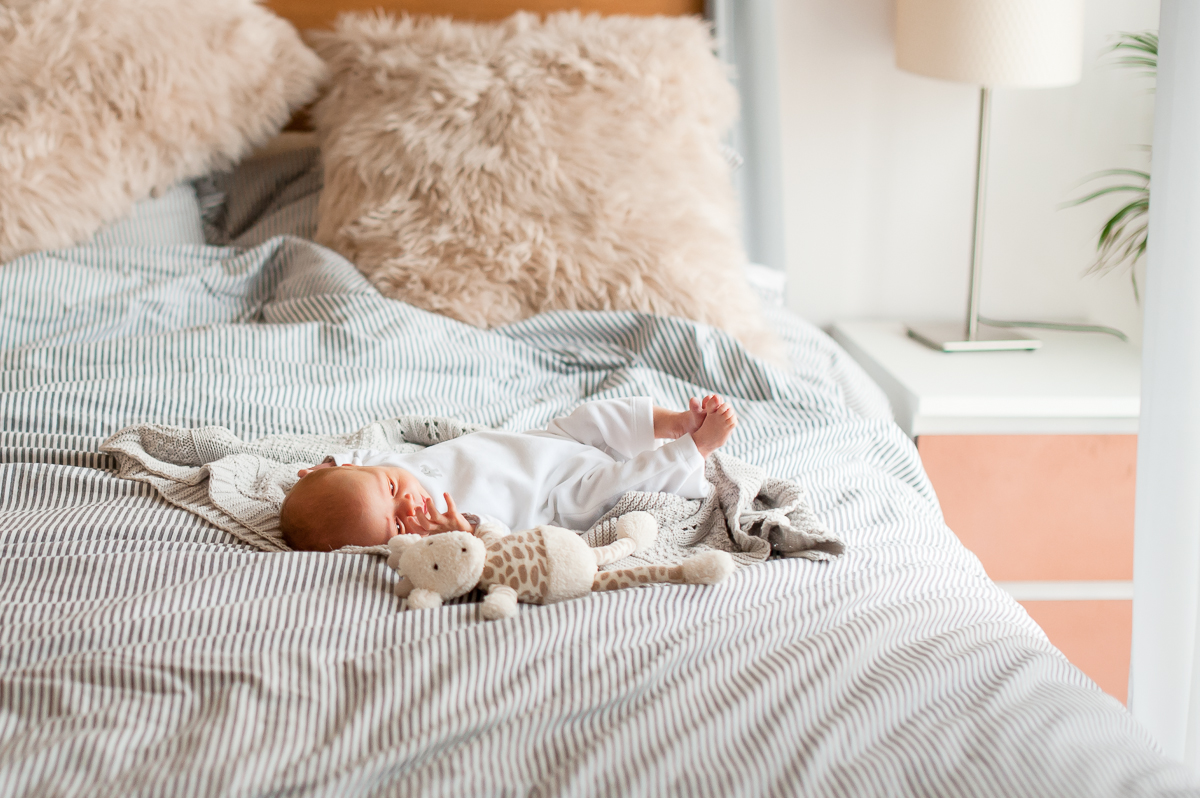 Lifestyle Photographer Perth, Wedding Photographer Perth, Liesl Cheney Photography, Lifestyle Newborn Photographer Perth, Newborn and stuffed toy